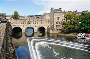 Photograph of a river in Bath
