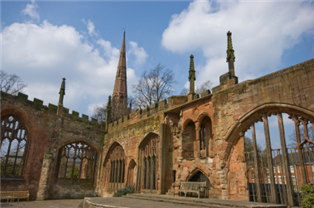 Photograph of various aspects of Coventry Cathedral