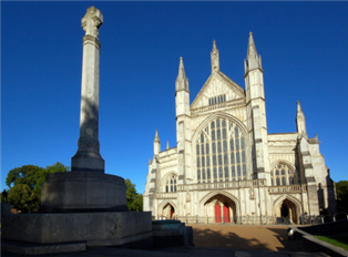 Photograph of Winchester Cathedral in Hampshire