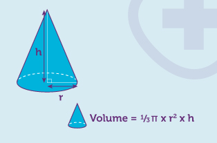 Worked example for the volume of a cone