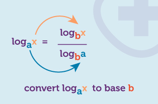 Worked example for converting logarithms