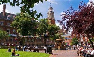 Landscape photograph of Leicester city centre