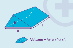 Worked example for the volume of a trapezoid
