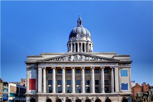 Photograph of a traditional building in Nottingham