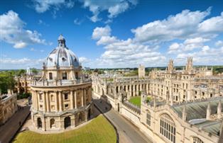 Panoramic photograph of Oxford University