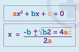 Worked example of the Quadratic equation