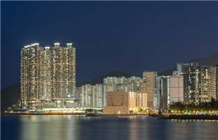 city scape image in Hong Kong